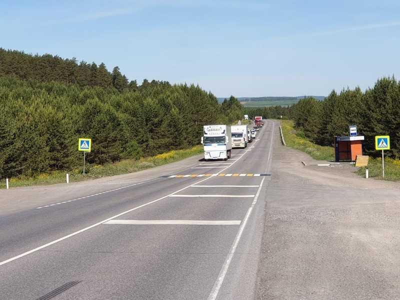 Федеральную трассу на Южном Урале оснастили шумовыми полосами